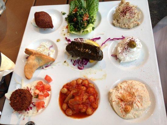 Lebanese Taverna: Delicious sampler. I forget the exact title.