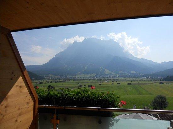 Hotel Hubertushof: Panorama dal nostro balcone