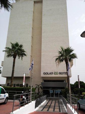 Golan Hotel: The hotel entrance