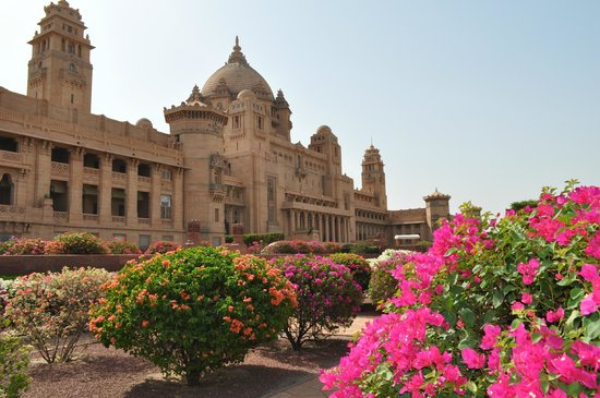 Umaid Bhawan Palace Jodhpur: from gardens