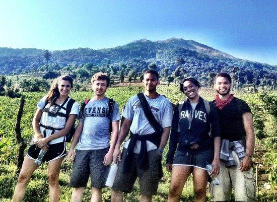 Acatenango Volcano: In the Farmland as we hike through the lower part of Acatenango