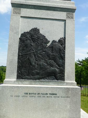 Fallen Timbers Battlefield: Memorial side close up
