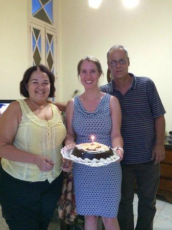 Casa Hilda y Alejandro: Birthday cake