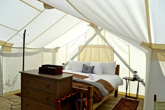 Under Canvas Yellowstone: the bed rated superior in comfort and warmth