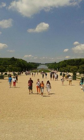 Chateau de Versailles: The Grand Canal from the Chateau