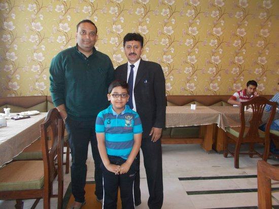Hotel Landmark: With Mr. Devender Singh at the Restaurant