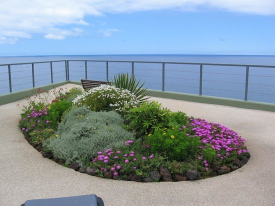 Golden Residence: Terrasse de l'hotel sur la mer