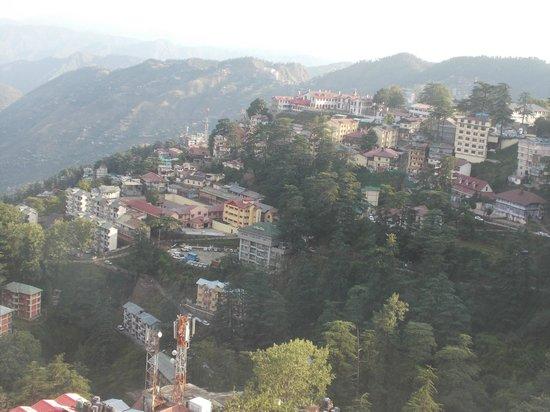 Hotel Landmark: Shimla view from the room