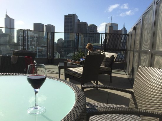 The Langham: Our VERY capacious private terrace
