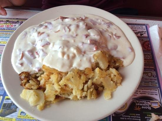 Pink Cadillac Diner : cream chipped beef