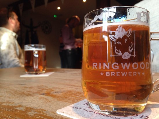 Ringwood Brewery: Beer tasting after an entertaining tour