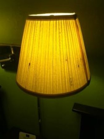 Kautilya Zanesville Hotel: Stains on the lampshade.
