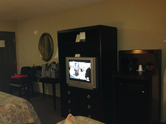 Inn at Mulberry Grove: Old style TV, it actually made a high frequency pitch while on.