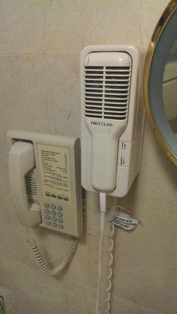 Beverly Hills Plaza Hotel: Antique hair dryer