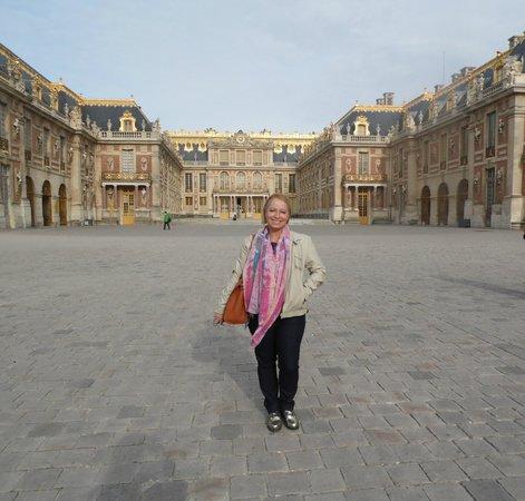 Château de Versailles : Cedo, conseguindo fotografar sem o tumulto dos visitantes