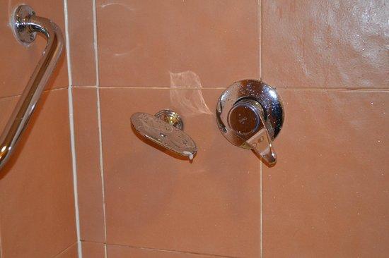 North Star Hotel: grifo mezclador de la ducha y jabonera(!)