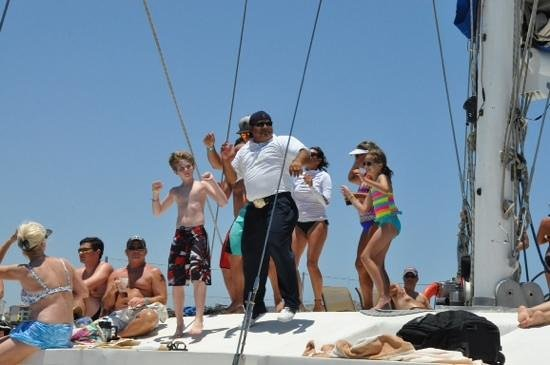 Ecocat Catamaran Tours: He cooks, then dances!