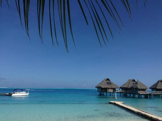 Conrad Bora Bora Nui: ホテルのビーチから