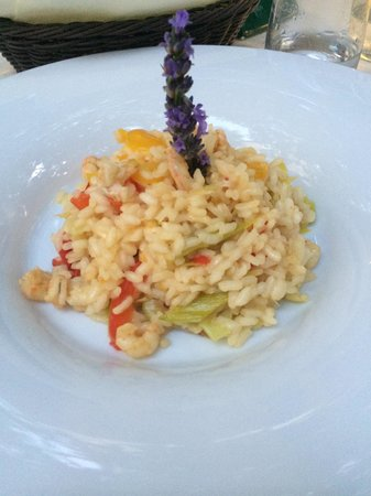 Restaurant Kopun: Gorgeous prawn risotto with leeks and paprika! 65K