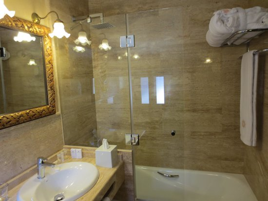 Hotel Casa 1800 Granada: Shower and tub