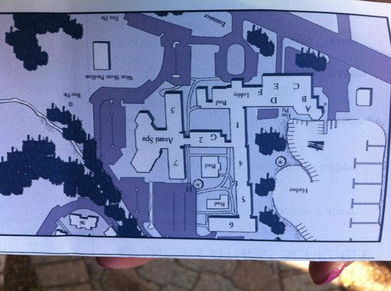 Hotel layout Picture of The Abbey Resort Avani Spa Fontana
