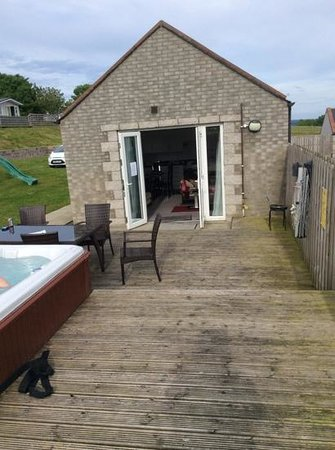 Auchenlarie Holiday Park: access from lounge