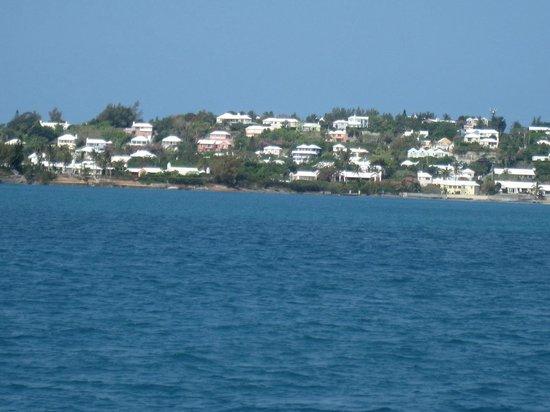Bermuda Reef Explorer: View of shoreline from Reef Explorer
