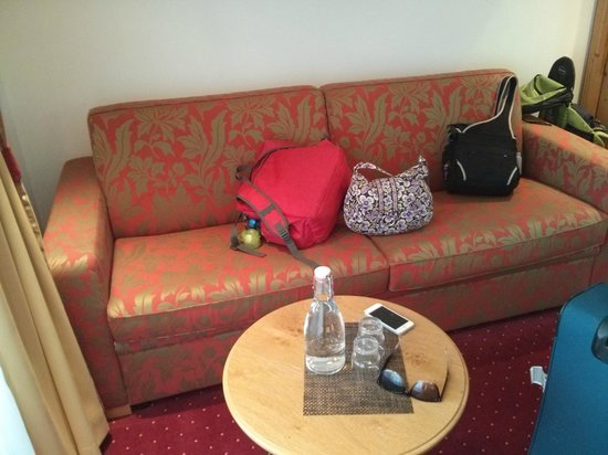 Hotel Mountain Paradise : Couch in room