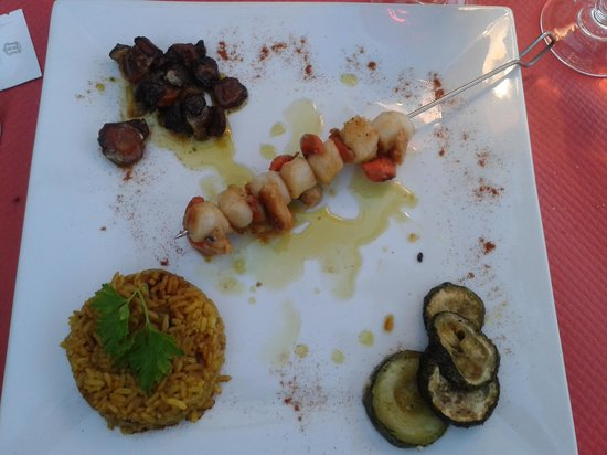Restaurant Le Piccolo : Brochette de St Jacques