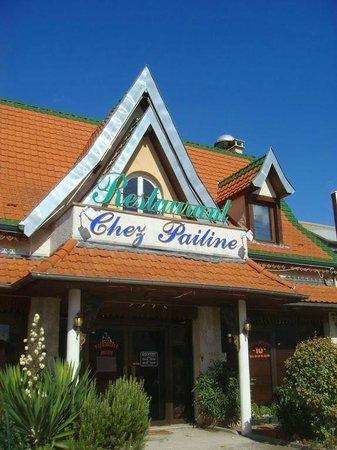 L'entrée du restaurant Chez Pailine