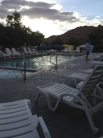Moab Valley RV Resort & Campground: big hot tub on the end of the pool