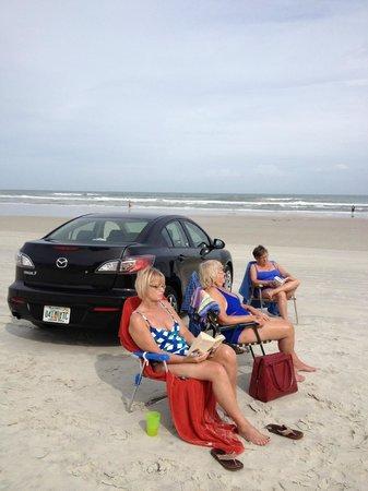 Beach at Daytona Beach: Car on the Beach