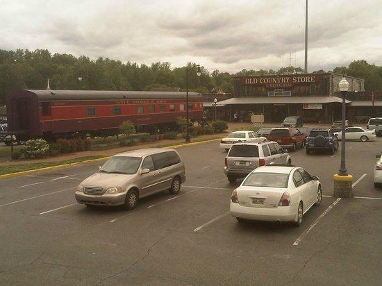 Casey Jones Village: Railcar in the parking lot