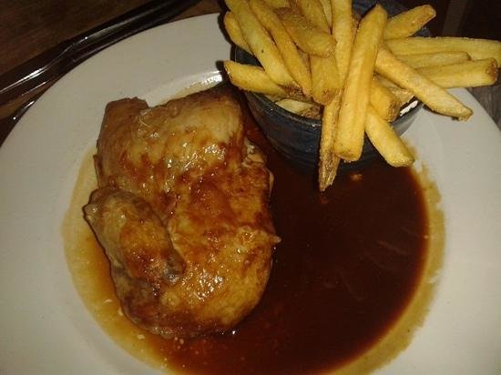 Freemasons Arms: Spit roast chicken
