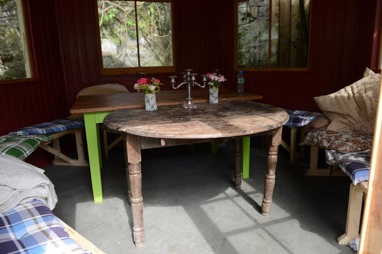 Ambledown Tea Rooms : Half round the table...