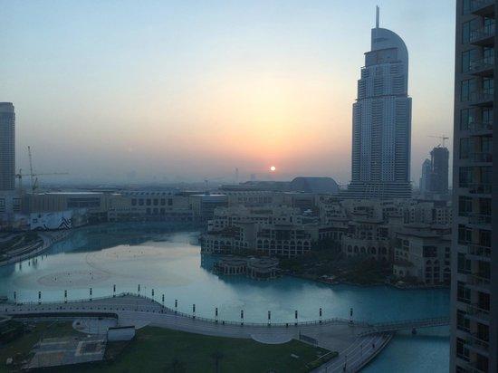 Ramada Downtown Dubai: Sunrise over the Fountains and Souk Al Bahar