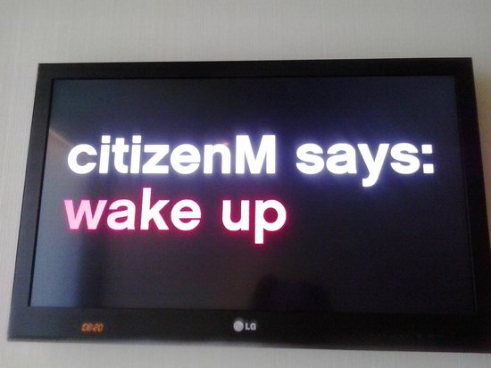 citizenM London Bankside: wake up message