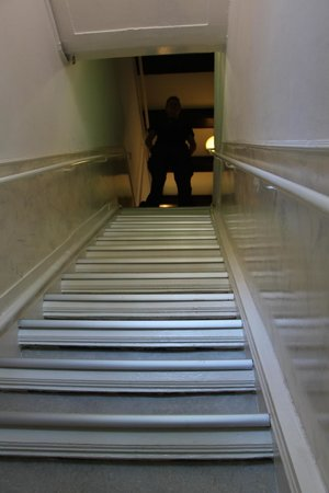 Prinsenhof: Looking up the main stairs