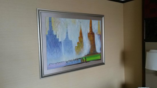 Shangri-La Hotel,Bangkok: Картина на стене номера