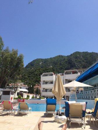 Munamar Beach Hotel: View from sun bed