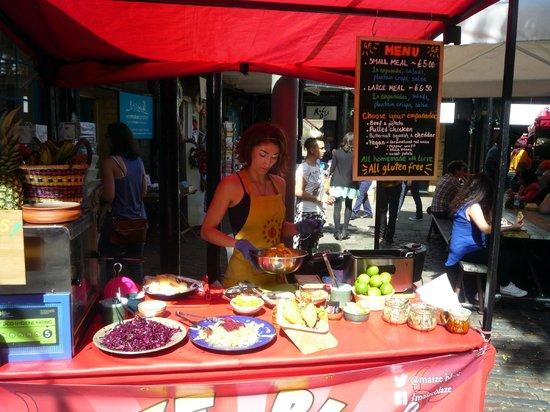 Camden Locks Canalside: food stall