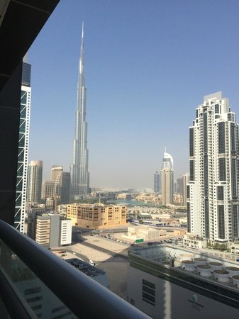 City Premiere Hotel Apartments : Burj Khalifa View from Balcony