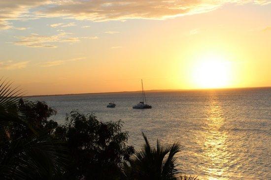 Alexandra Resort: First sunset from deck