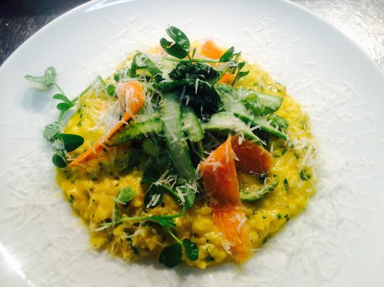 Salt Cafe: Carrot and English asparagus risotto with pecorino