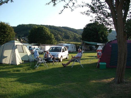 Porlock Caravan Park: The camping section