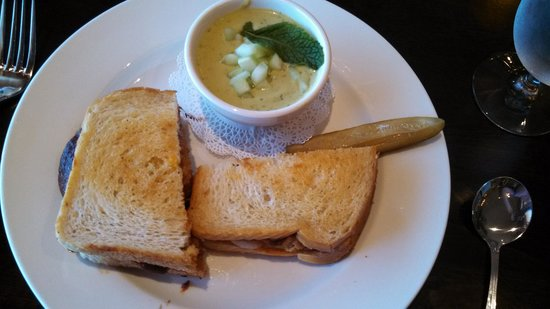 Larks: Meatloaf Sandwich and Cucumber Soup
