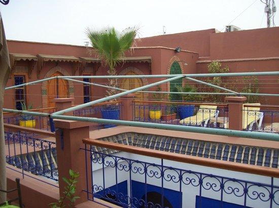Riad Kenzo : top floor terrace