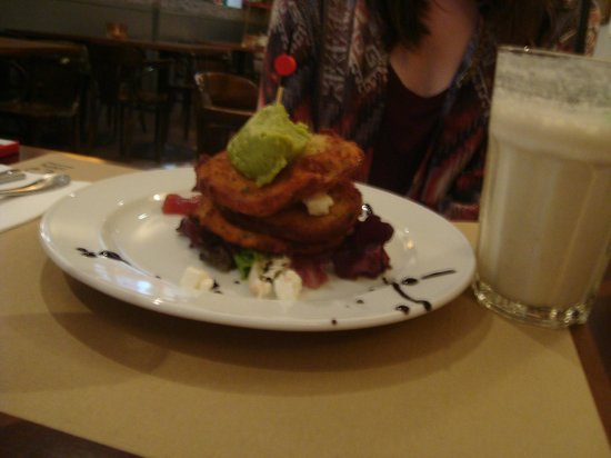 The Benedict - Brunch, Bistro, Bar: Fried Green Tomatoes Spanish style