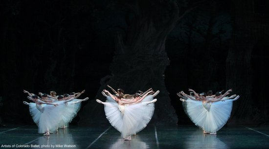 """Artists of Colorado Ballet in """"Giselle,"""" photo by Mike Watson"""