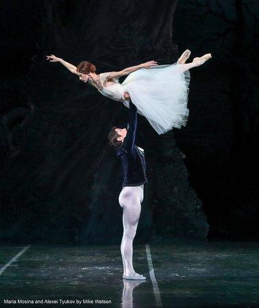 "Colorado Ballet: Maria Mosina and Alexei Tyukov in ""Giselle,"" photo by Mike Watson"
